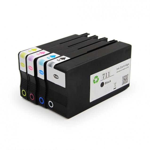 Compatible 4 Color HP711 Ink Cartridge Multipack - (CZ133A/130A/131A/132A)